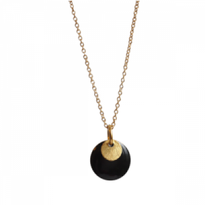 """Spot"" Black/Gold - Necklace - Gold"