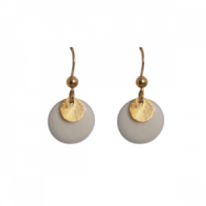 """Spot"" White/Gold - Earring - Gold"