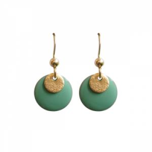"""""""Spot"""" Mint/Gold - Earring - Gold"""
