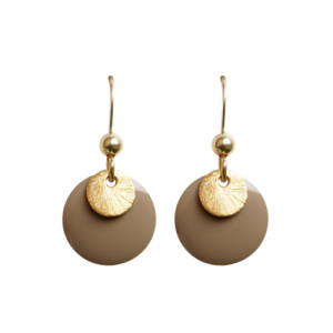 """Spot"" Stone/Gold - Earring - Gold"