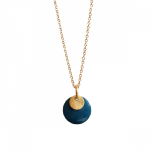"""Spot"" Petrol/Gold - Necklace - Gold"