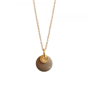 """Spot"" Stone/Gold - Necklace - Gold"
