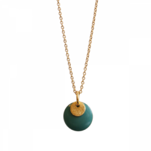 """Spot"" Turquoise/Gold - Necklace - Gold"