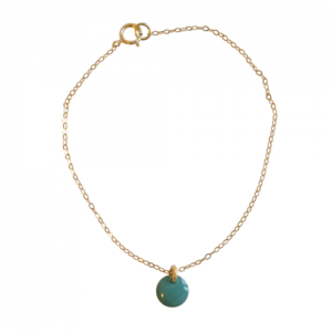"""""""Spot"""" Turquoise - Bracelet - Gold"""