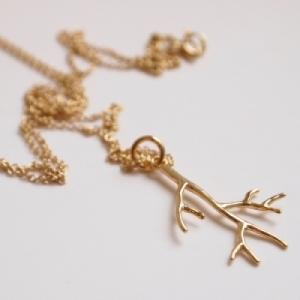"""""""Garden Eden"""" Branch - Necklace - Gold"""