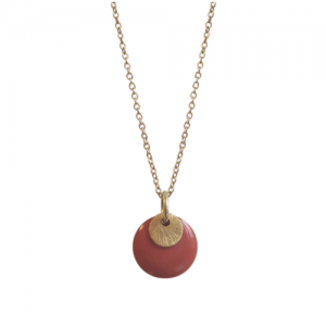 """Spot"" Terra/Gold - Necklace - Gold"