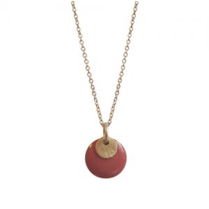 """Spot"" Terra/Gold - Necklace - Gold"