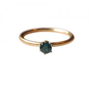 """Solitaire"" Green Topaz (M) - Ring - Gold"