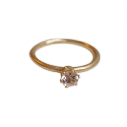 """Solitaire"" Morganite (M) - Ring - Gold"