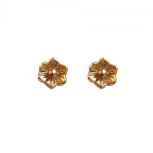 """Garden Eden"" Minifleur - Stud Earring - Gold"