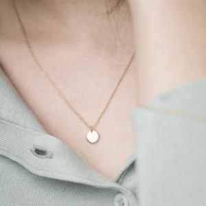 """""""Un-Deux-Trois"""" Dot - Necklace - Gold"""