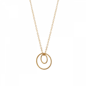 """Sophie"" Double Circle - Necklace - Gold"