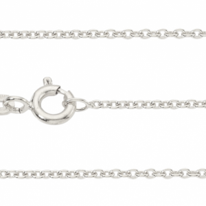 """Single Basic Chains"" Rundanker filigran - 50cm Necklace - Silver"