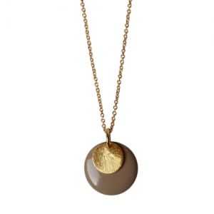 """""""Spot"""" Stone/Gold Large - Necklace - Gold"""