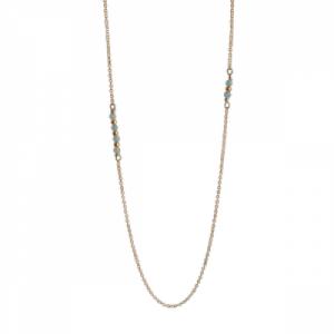 """""""Un-Deux-Trois"""" Amazonit - Necklace - Gold"""