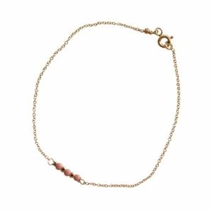 """""""Un-Deux-Trois"""" Peach Coral - Bracelet - Gold"""