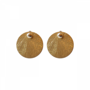 """Spot Classic"" Beam Large - Stud Earring - Gold"