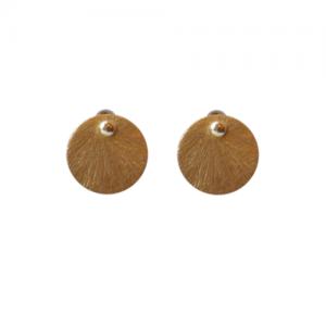 """Spot Classic"" Beam Medium - Stud Earring - Gold"
