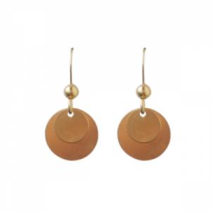 """""""Spot Classic"""" Mat - Earring - Gold"""