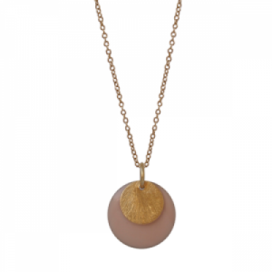 """Spot"" Nude/Gold Large - Necklace - Gold"