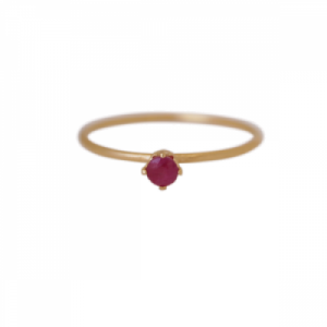 """Solitaire"" Ruby (S) - Ring - Gold"