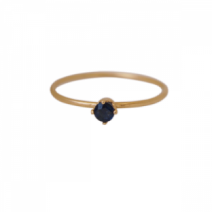 """Solitaire"" Sapphire (S) - Ring - Gold"