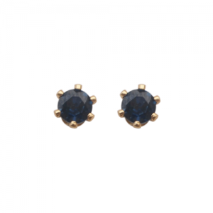 """Solitaire"" Sapphire (S) - Stud Earring - Gold"