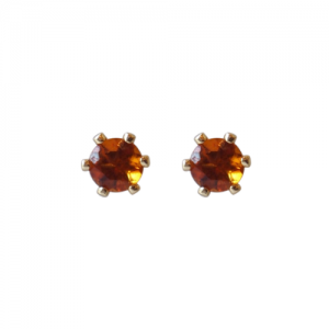 """Solitaire"" Fire Citrin (S) - Stud Earring - Gold"
