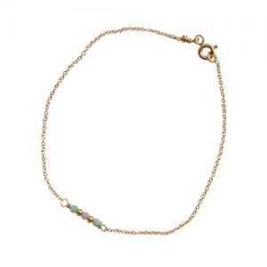 """""""Un-Deux-Trois"""" Amazonit - Bracelet - Gold"""