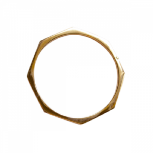 """Cleometra"" Oktagon - Bangle - Gold"