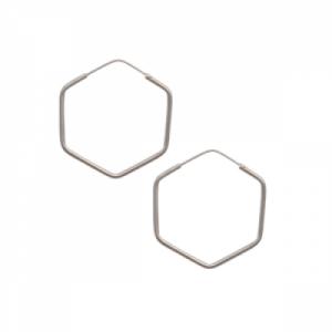 """""""Cleometra"""" Hexagon - Creole - Silver"""