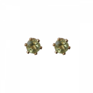 """Solitaire"" Peridot (S) - Stud Earring - Gold"