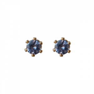 """Solitaire"" Tanzanite (S) - Stud Earring - Gold"