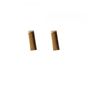 """Stripes & Joist"" Bar S - Stud Earring - Gold"