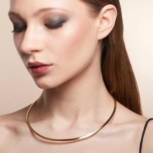 """Stripes & Joist"" Ring - Collier - Gold"