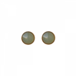 """Petit Point"" Aventurin - Stud Earring - Gold"