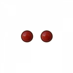 """Petit Point"" Coral - Stud Earring - Gold"