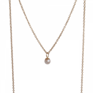 """Sophie"" Nature Pearl - Necklace - Gold"