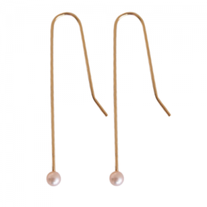 """Sophie"" Rose Pearl - Earring - Gold"
