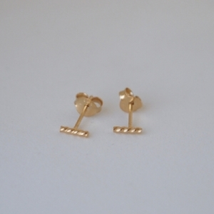 """Sophie"" Twist Line - Stud Earring - Gold"
