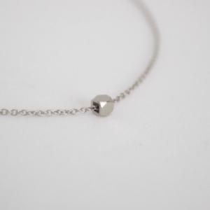 """Cleometra"" Hexagon Square - Bracelet - Silver"