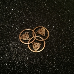 """Panthera"" in Circle - Necklace - Gold"