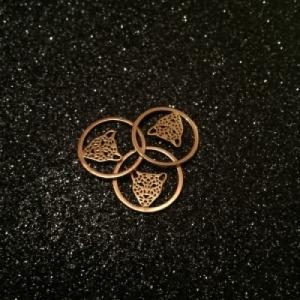 """Panthera"" in Circle - Necklace - Gold"