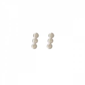"""""""Paillette"""" Three - Stud Earring - Silver"""