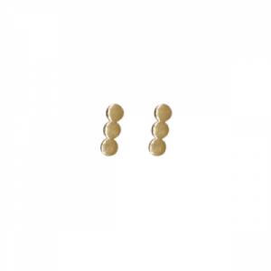"""Paillette"" Three - Stud Earring - Gold"