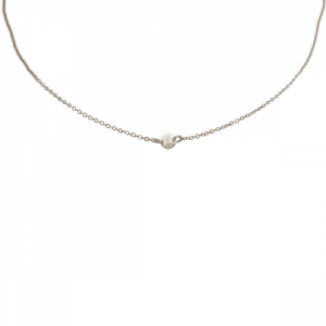 """Paillette"" Single - Collier - Silver"