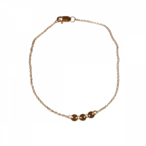 """Paillette"" Three - Bracelet - Gold"