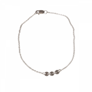 """Paillette"" Three - Bracelet - Silver"