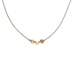 """Paillette"" Three - Collier - Gold"