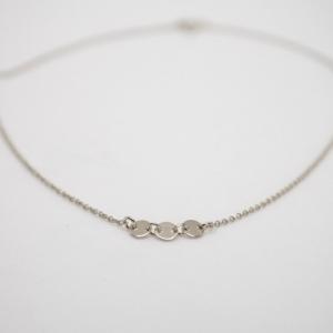 """Paillette"" Three - Collier - Silver"